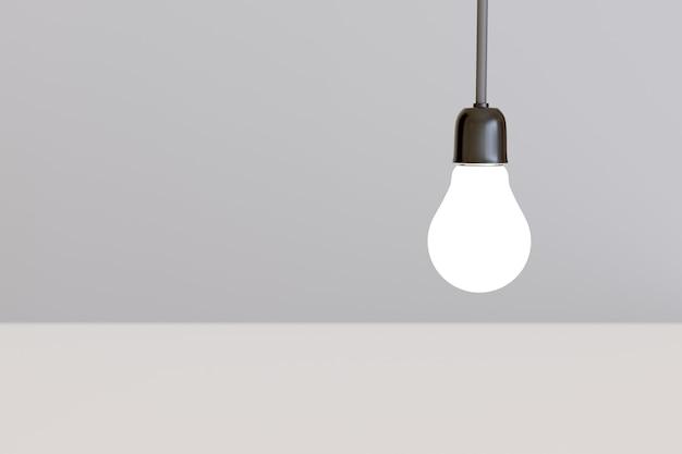 白で隔離の電球。アイデアとインスピレーションのコンセプト。
