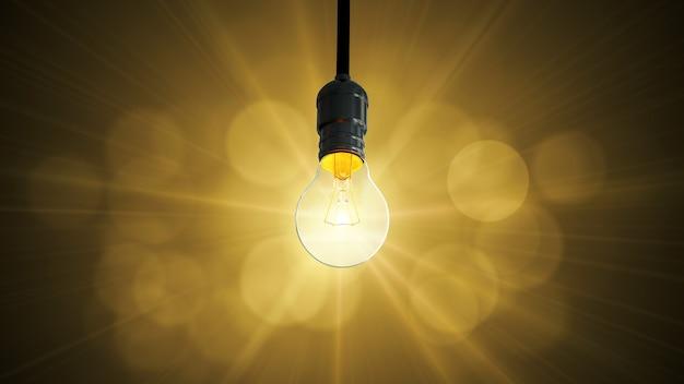 電球のスインググローが上昇し、