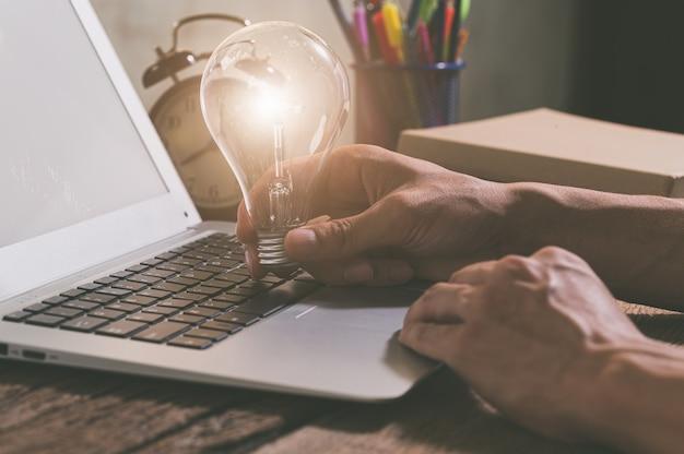 Light bulb symbol of new ideas.