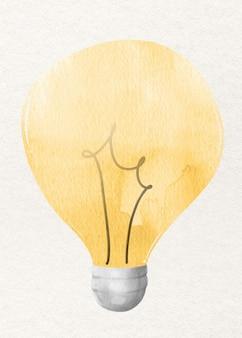 Elemento di design file acquerello lampadina