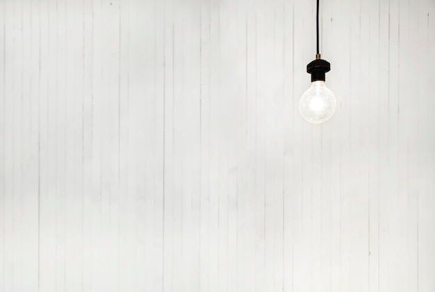 Light bulb white background brightly modern concept