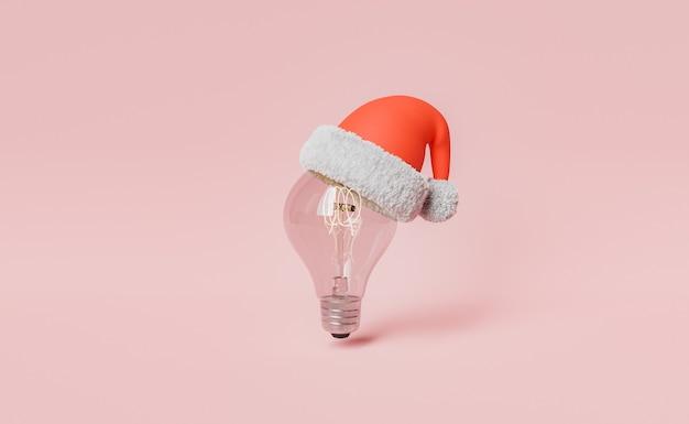 クリスマスの帽子と電球
