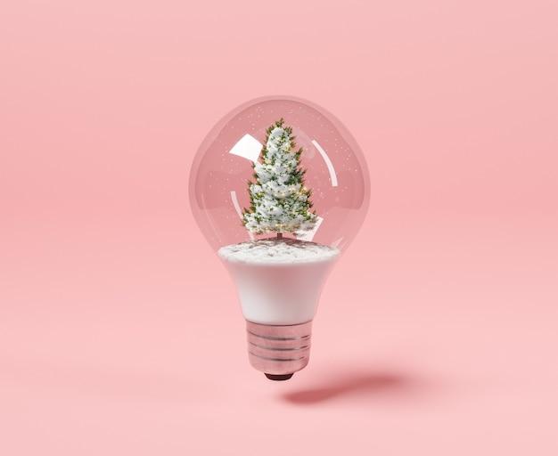 クリスマスツリーが入った電球