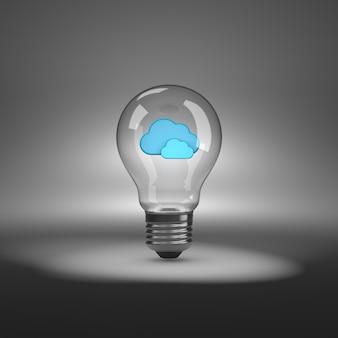 雲の形をした電球
