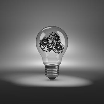 歯車付きの電球