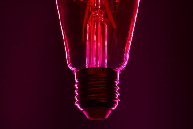 Лампа с неоновым цветом