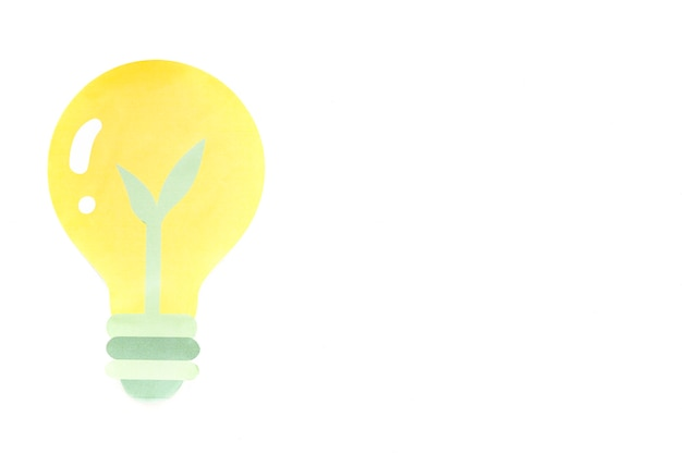 Light bulb with petal