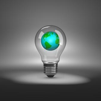 地球が入った電球
