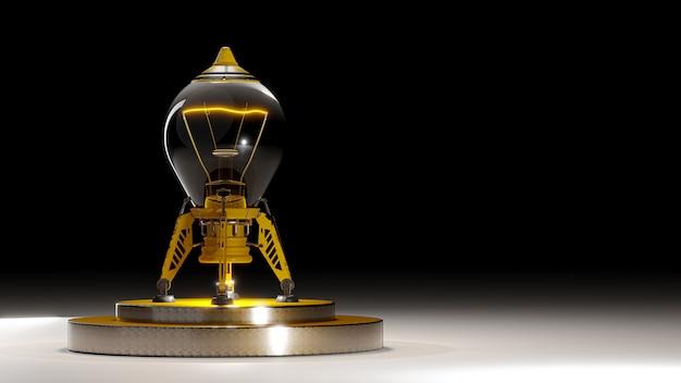 Лампочки, похожие на ракеты.