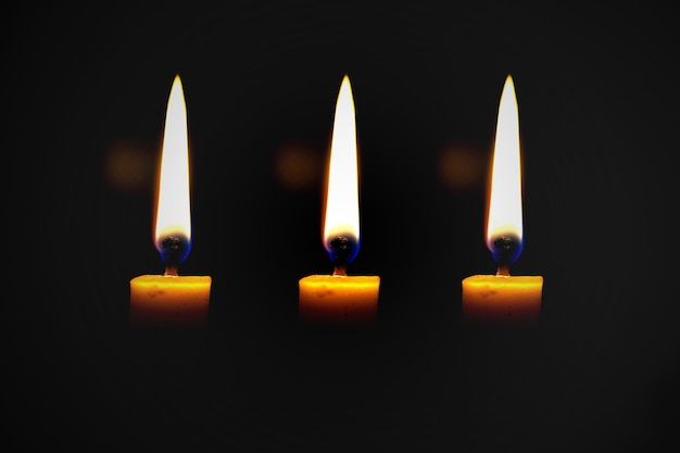 Light a candle for illumination at night.