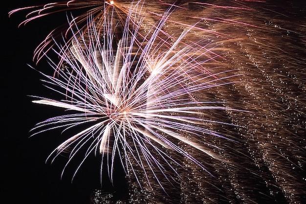 Light celebration bonfire year fireworks new