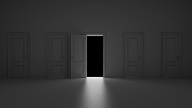 開いたドアを通って来る光