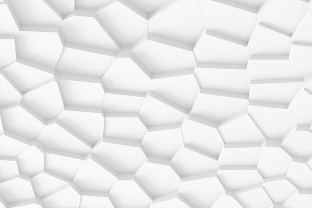 上下にそびえ立つさまざまな形のさまざまなサイズのブロックの軽いデジタルテクスチャ、影を落とす3dイラスト Premium写真