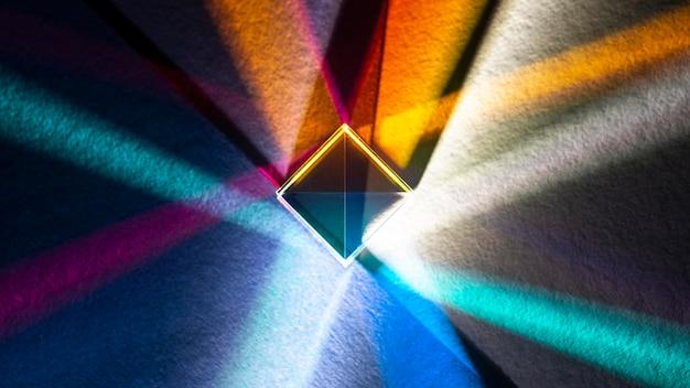 Dispersione della luce e prisma ad effetto ottico