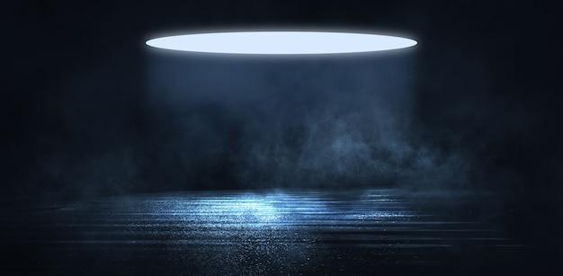 光の効果、ぼやけた背景。濡れたアスファルト、街の夜景、ネオンの反射