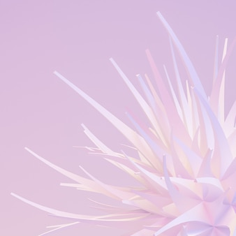 Light gentle abstract background 3d illustration rendering