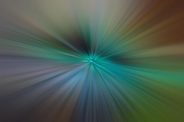 ライトグリーンとブラウンの輝く粒子と線。美しい抽象的な光線の背景