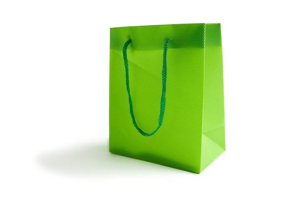 Светло-зеленый макет сумки для дизайна на белом. место для текста. концепция продажи