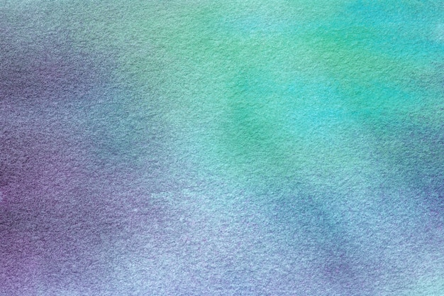 Light green and blue colors. watercolor painting on canvas with purple  gradient.