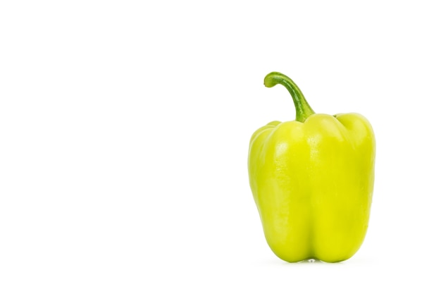 Light green peppers isolated