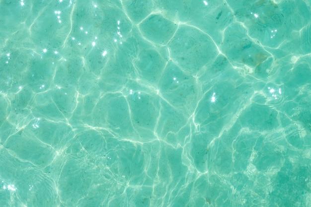 薄緑色の水の波紋