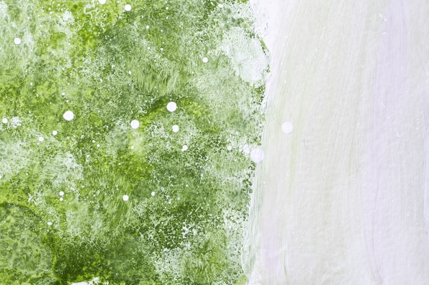 Light green and white colors. watercolor painting on canvas with olive gradient. paper with waves pattern