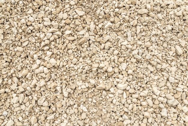 ライトグレーの砂利のテクスチャ、上面図。