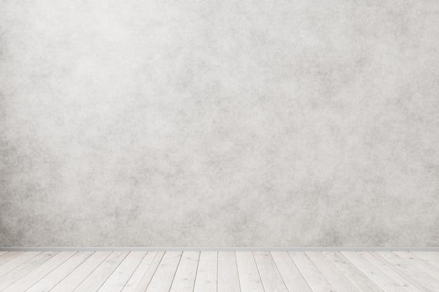 Легкий дизайн интерьера для вашей заготовки. деревянный пол в интерьере лофта. 3d визуализация.