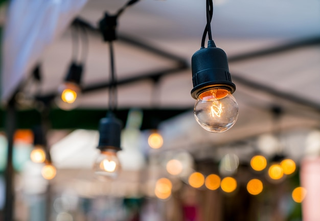 Light lamp decor glowing
