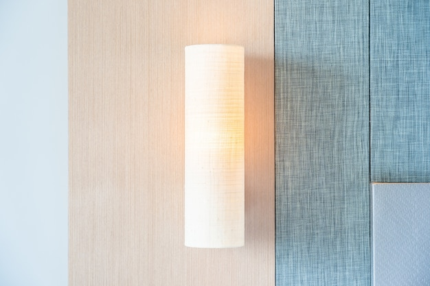 Light lamp on wall decoration interior