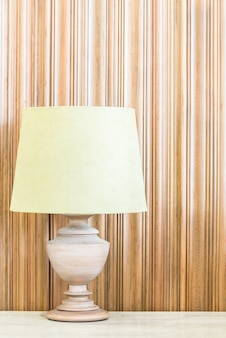 Light lamp with copy space on wall