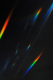 Light leak effect on a black background
