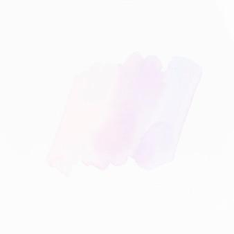 白い表面に分離された軽い液体カラーストローク