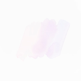 Light liquid color strokes isolated on white surface