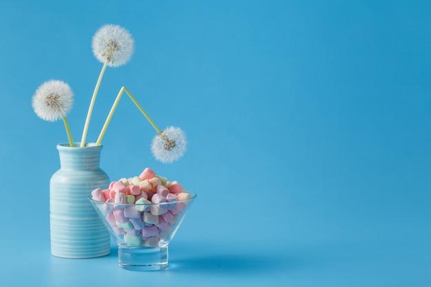 Легкие зефирные сладости типа одуванчика