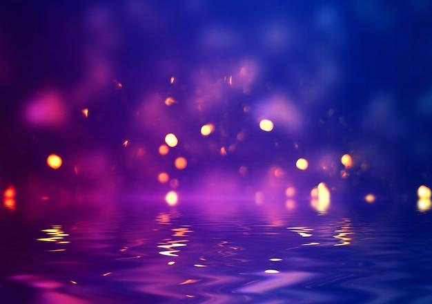 光のネオン効果、抽象的な背景が暗いエネルギー波。