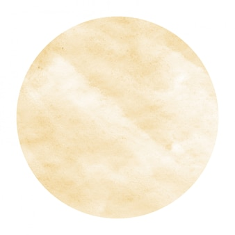 Light orange hand drawn watercolor circular frame background texture with stains