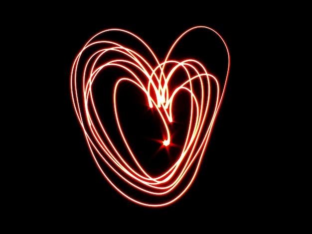 사랑의 마음의 라이트 페인팅