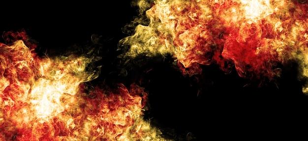 Наложение текстуры легких частиц смога красный свет дым и зенитная артиллерия
