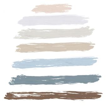 白い背景の上の明るいパステルオイルブラシストローク