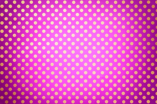 Светло-фиолетовый из оберточной бумаги с рисунком в золотой горошек