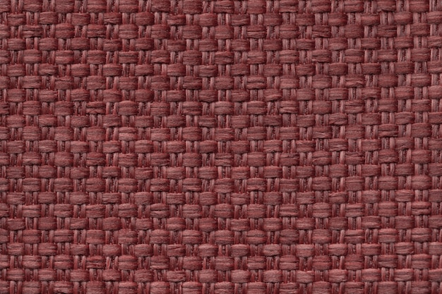 Light purple textile background with checkered pattern, closeup. structure of the fabric macro.