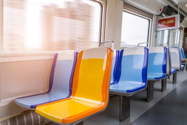 Light rail car seat