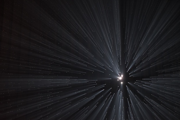 Light rays through small holes in a dark space