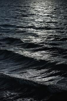水、暗い環境での光の反射