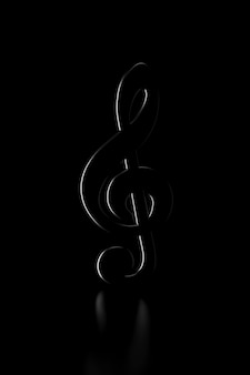 Light and shadow of treble clef sign