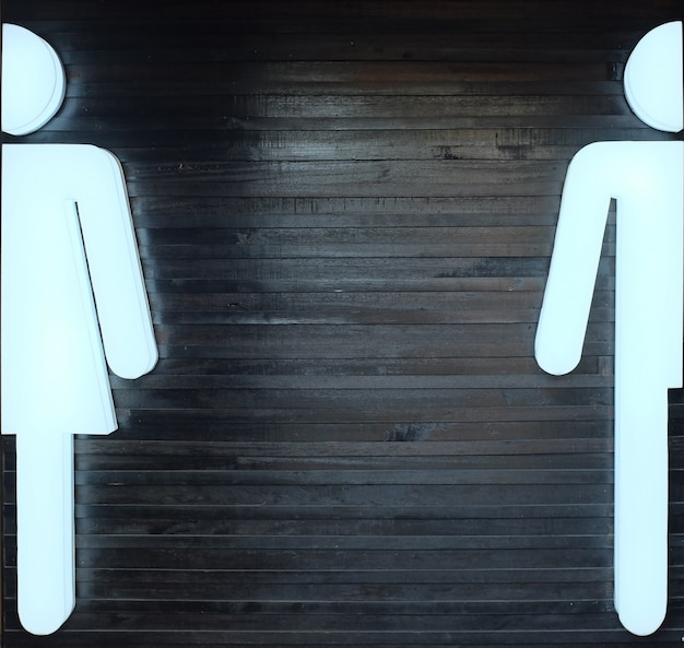 Light sign for male and female toilets