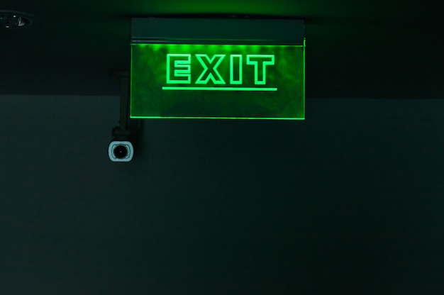 Light signs, installed on the corridor in the hotel