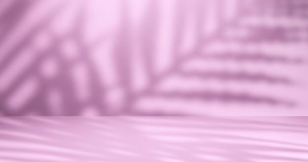 自然な影でプレゼンテーションするための明るいスタジオの背景。 3dレンダリング