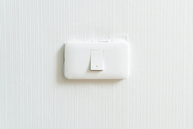 Light switch on wall